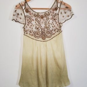 Free People Embellished Palms Tunic Top